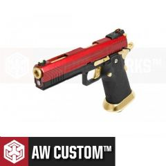 HX1104 Pistol AW Custom Hi-Capa GBB Airsoft Red Slide & Gold Barrel